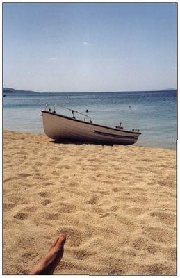 Der Fuß und das Boot