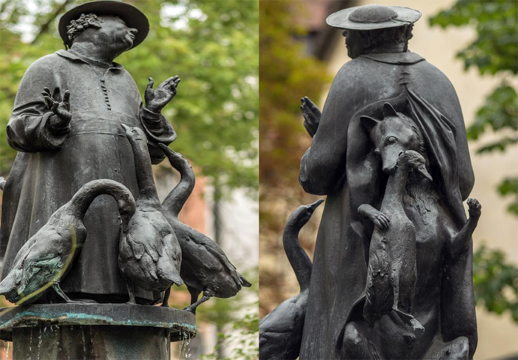 Der Gänsebrunnen in Regensburg