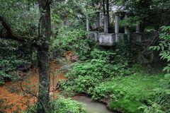 der Garten am rostigen Fluss...