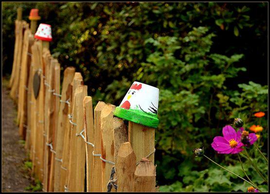 Der Gartenzaun.....
