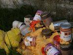 Der gelbe Bär auf der illegalen Giftmülldeponie
