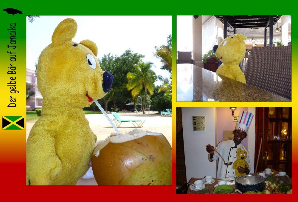 Der gelbe Bär auf Jamaika - Leckers Essen und Trinken
