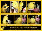 Der gelbe Bär hilft...in der Düsseldorfer Altstadt