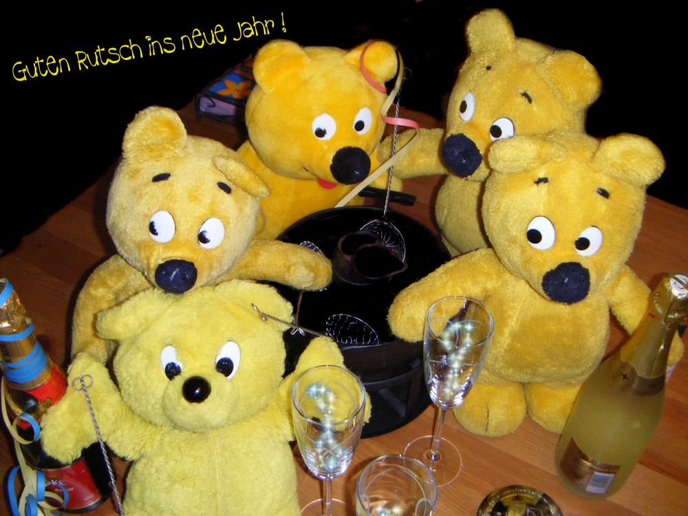 Der gelbe Bär Team wünscht guten Rutsch