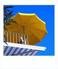 Der gelbe Sonnenschirm
