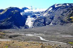 Der Gletscher Eyjafjallajökull nach dem Ausbruch des Vulkans im Jahr 2010 (Foto: 30.06.2012)