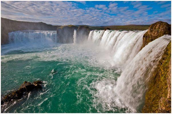 """Der Godafoss, """"Wasserfall der Götter"""""""
