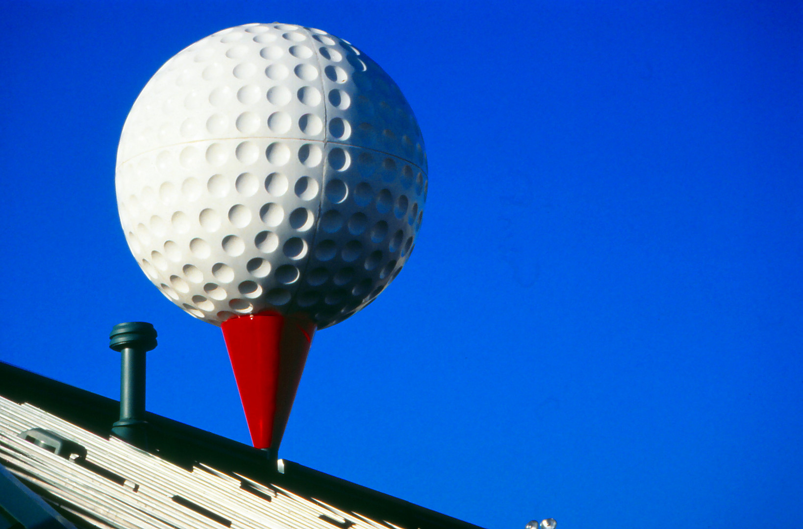 Der gößte golfball der USA