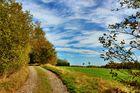 Der goldene Oktober auf dem Bergmannspfad bei Holzappel über der Lahn