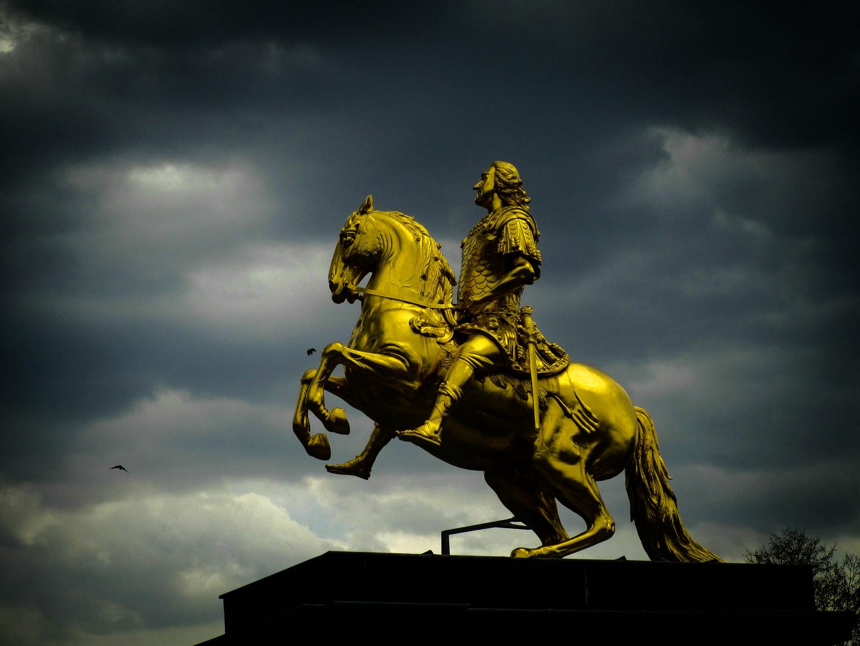 der goldene Reiter in Dresden das Zweite
