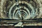 Der Greenwich Themse Tunnel bei Nacht ........