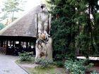 Der große Adler überwacht den Ausgang im Weltvogelpark Walsrode