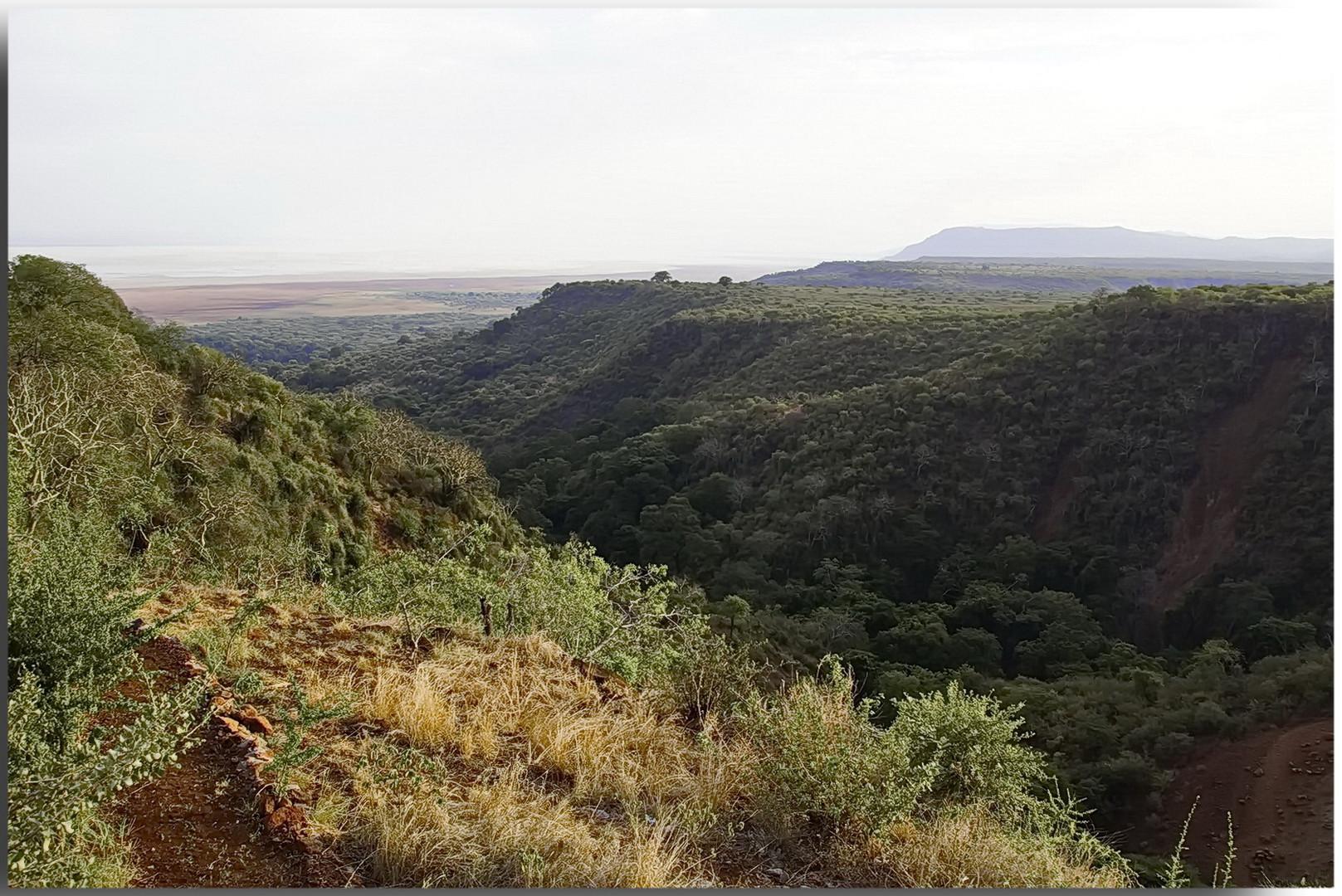 Der Große Afrikanische Grabenbruch (engl. Great Rift Valley)