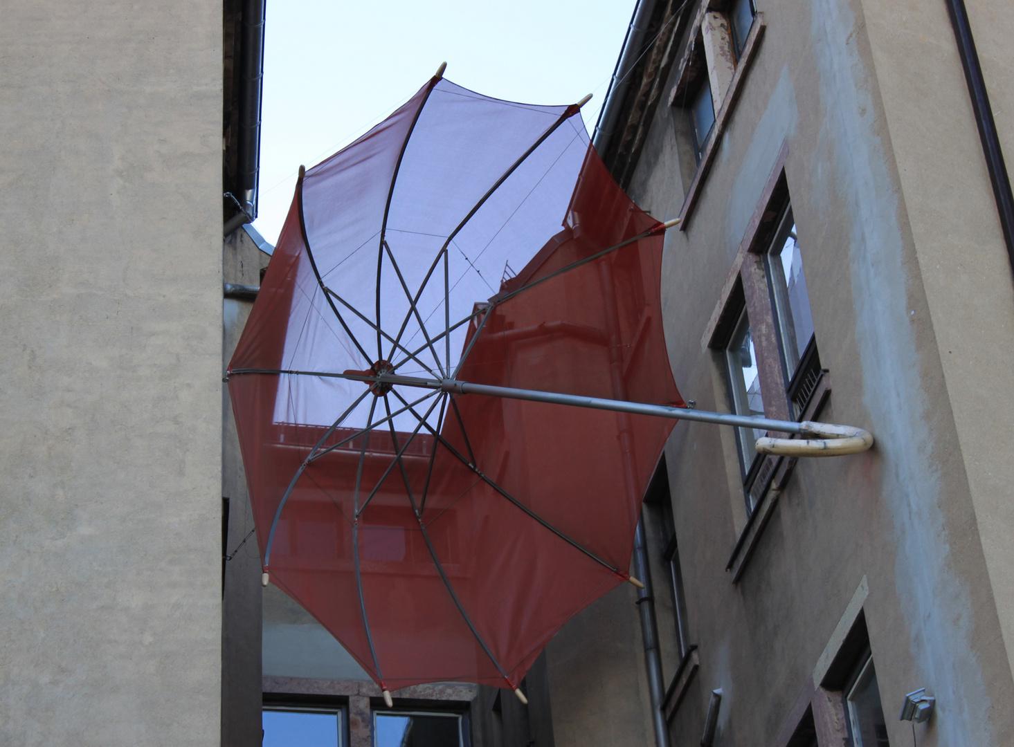 Der große Regenschirm / The large umbrella
