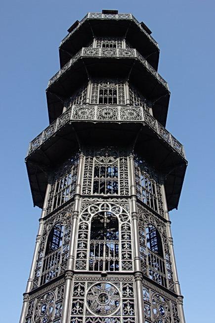 Der gußeiserne Turm auf dem Löbauer Berg