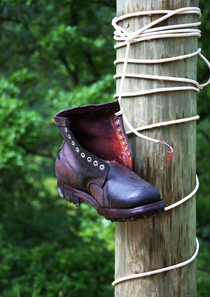 Der hängende Schuh