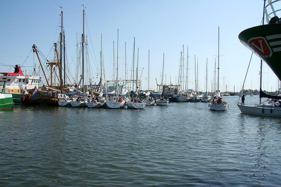 der Hafen ist voll