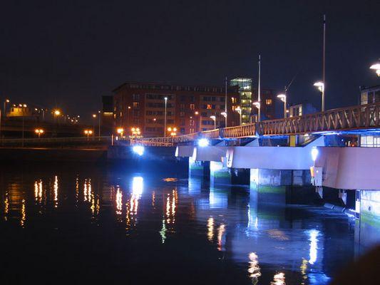 Der Hafen von Belfast (in Blau)
