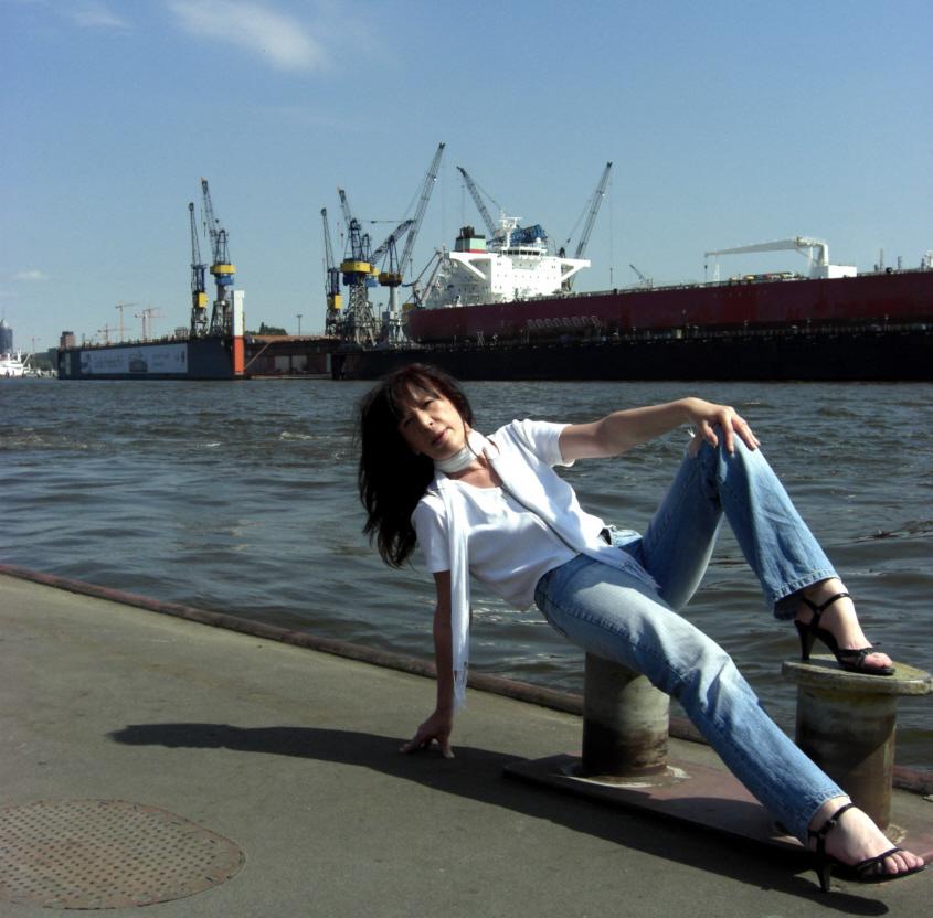 Der Hamburger Hafen ...