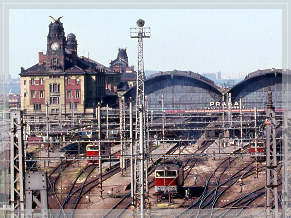Der Hauptbahnhof von Prag
