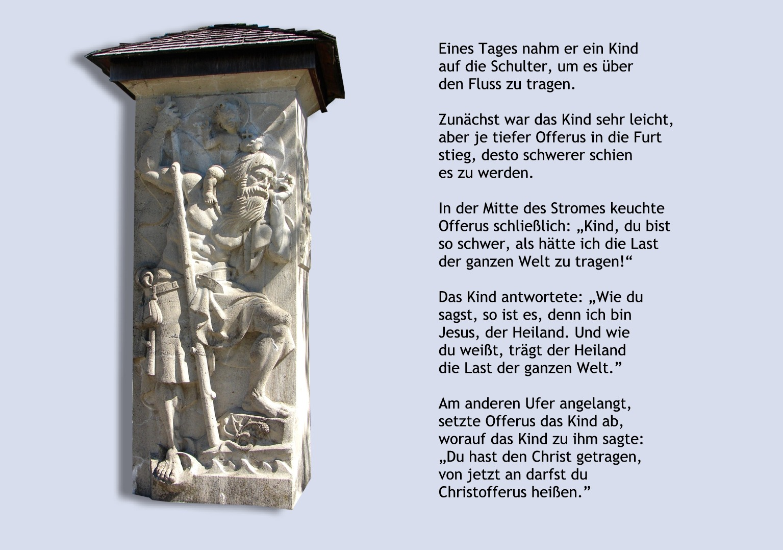 Der heilige Christophorus, der ursprünglich Offerus hieß