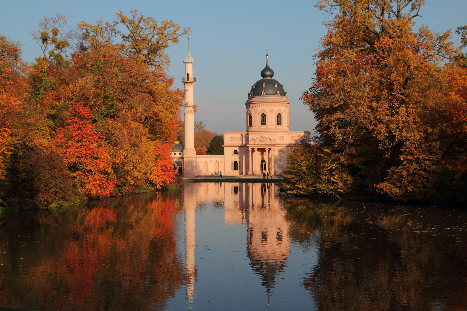 der Herbst im Schloßgarten