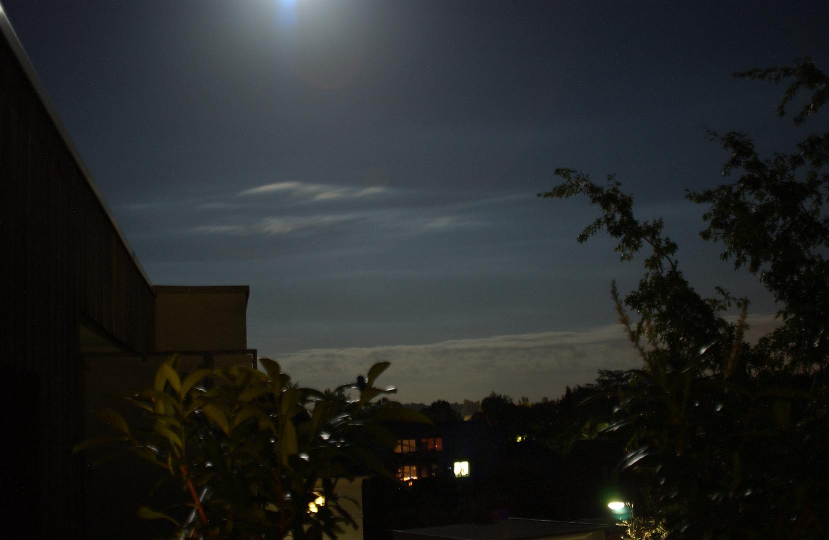 Der Himmel bei Vollmond