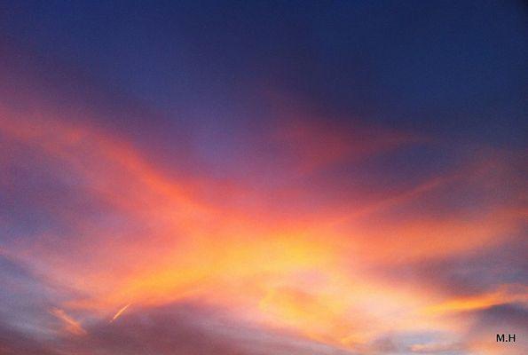 der Himmel brannte in den schönsten Farben..