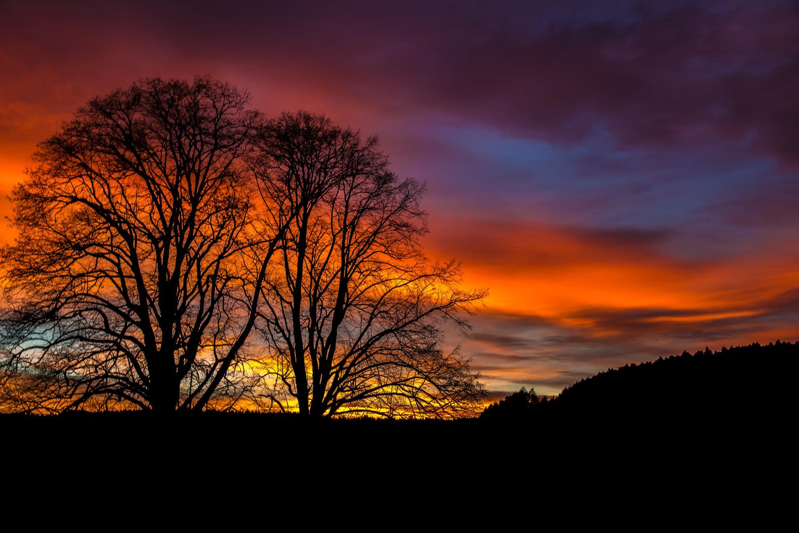 Der Himmel brennt........