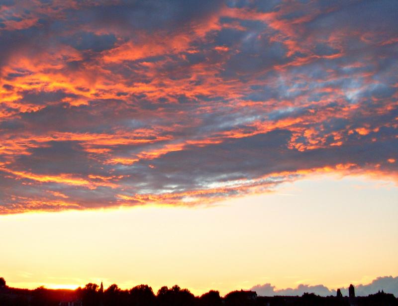 Der Himmel brennt, die Engel fliehen ;-)
