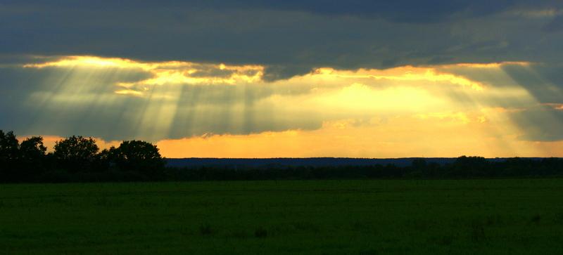 der Himmel bricht auf...