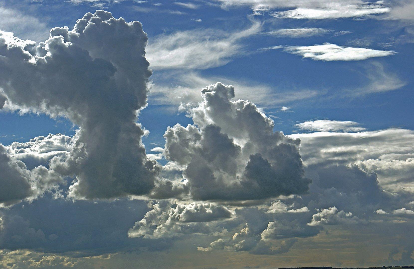 der Himmel heute um 16.45 Uhr über Weil am Rhein...