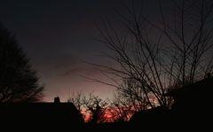 der Himmel malt im letzten Licht...