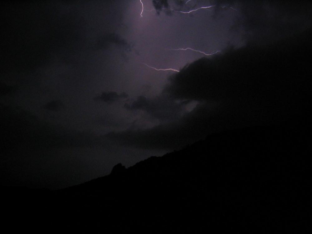 Der Himmel mit und ohne Blitz