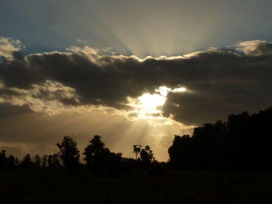 Der Himmel reißt auf ...