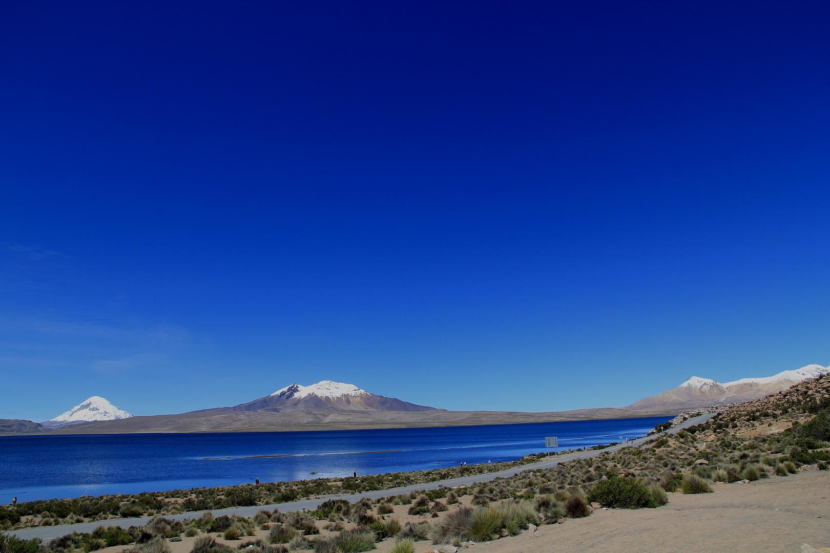 Der Himmel über dem Lago Chungará auf 4660m über NN