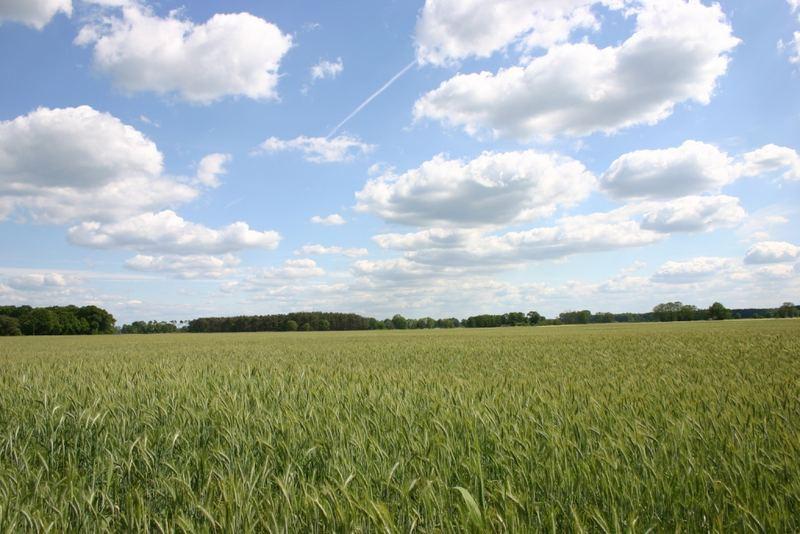 Der Himmel über der Landwirtschaft