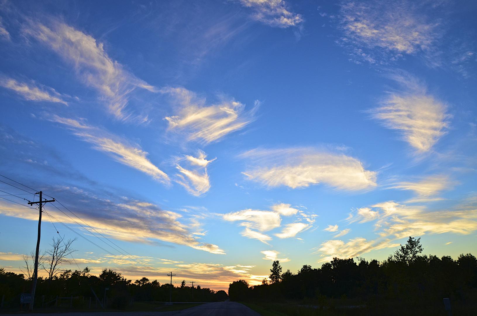 Der Himmel über Manitoba