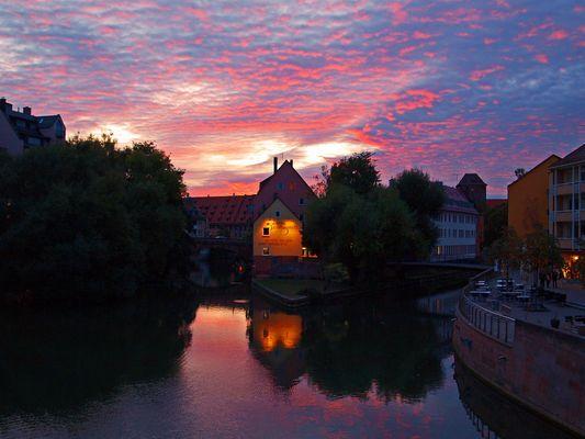 Der Himmel über Nürnberg´s Altstadt brennt...