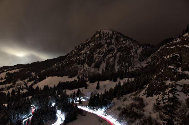 Der Hirschberg bei Bad Hindelang bei Nacht