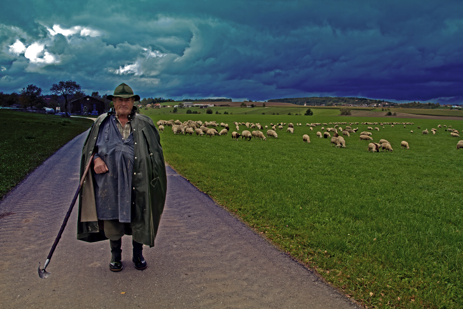 Der Hirte und seine Herde.....
