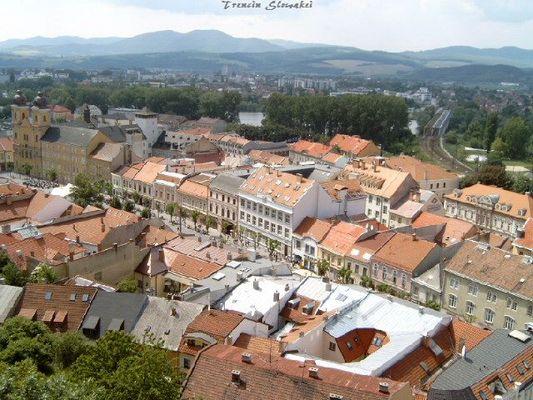 Der historiche Stadtkern von Trencin