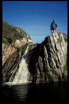 Der höchste Wasserfall auf den Shetlandinseln
