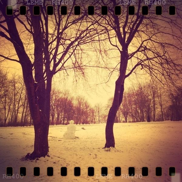 Der hoffentlich letzte Schneemann