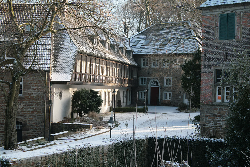 Der Innenhof des alten Schlosses...
