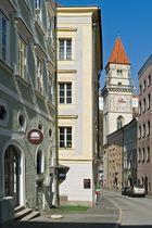 Der italienisch anmutende Rathausturm in Passau