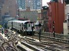 der J Train in Brooklyn NY