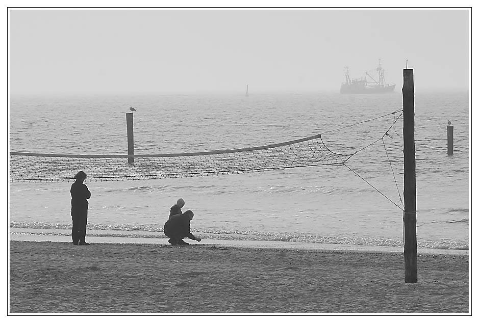der junge Mensch und das Meer