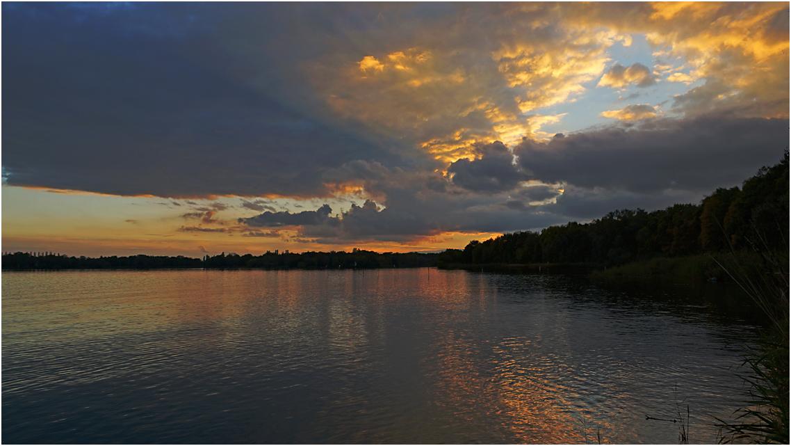 Der Jungfernsee bei Sacrow nach Sonnenuntergang