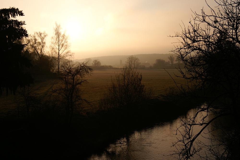 Der Kampf der Sonne gegen den Nebel